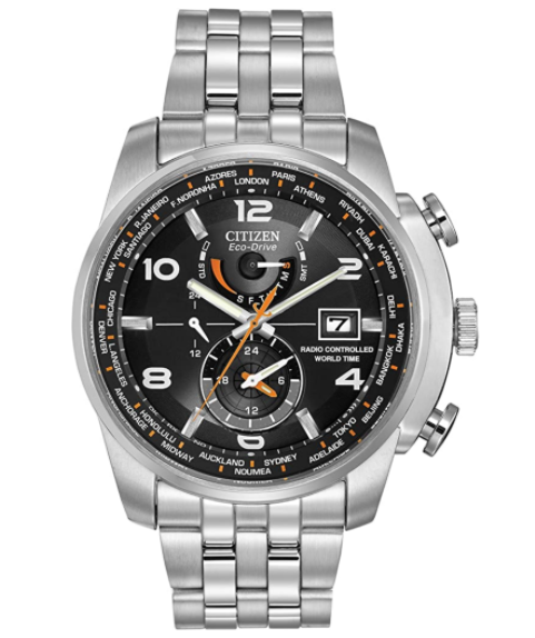 Citizen Mens Eco-Drive World Time Atomic Timekeeping Travel Watch for men of 2021