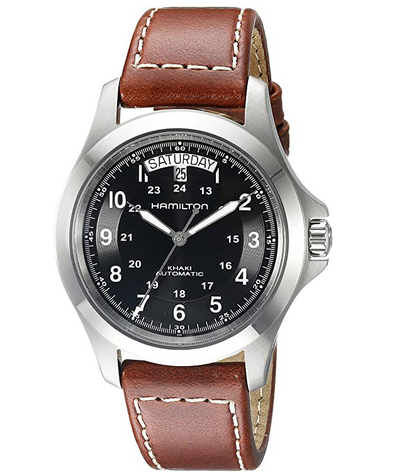 Hamilton Mens H64455533 Khaki King Series Stainless Steel Automatic Travel Watch of 2021
