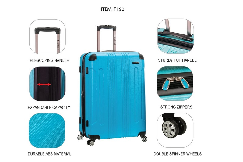 Rockland London Hardside Spinner Wheel Luggage Specification